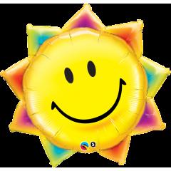 "Folie fig smiley soare, 89 cm / 35"", Qualatex 26531"