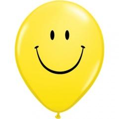 "Baloane latex 11""/28 cm inscriptionate Smiley Face, Qualatex 85986"