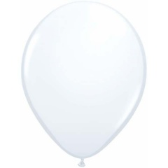 "Balon Latex White 9"" Qualatex 43712"