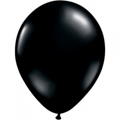Balon Latex Onyx Black Negru, 9 inch (23 cm), Qualatex 43675