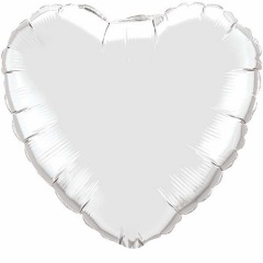 Silver Heart Ultra Shape Foil Balloon - 80cm, Radar F206500P