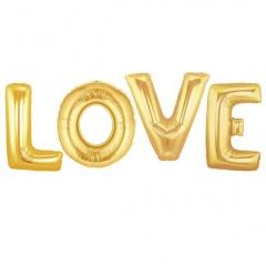 Pachet litere LOVE 41 cm auriu, Anagram