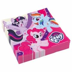 Servetele de masa pentru petrecere copii - Micutul meu ponei (My little pony), 33 cm, Amscan 9902510, Set 20 buc