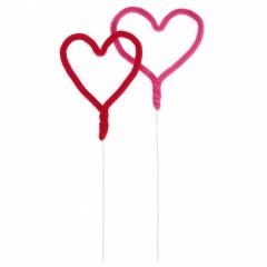 Scobitori decorative pentru briose cu inimioare, Lovely Moments, Amscan 552064, Set 5 buc