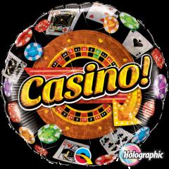 Balon Folie 45 cm, Casino, Qualatex 16970