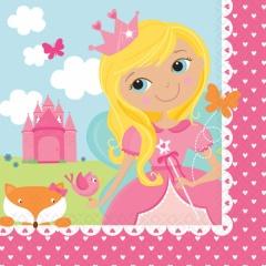 Servetele pentru petrecere copii - Woodland Princess, 25 x 25 cm, Amscan 501623, Set 16 buc