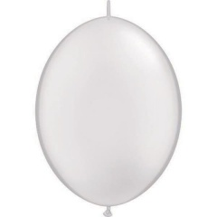 Balon Cony Pearl White, 6 inch (15 cm), Qualatex 90268