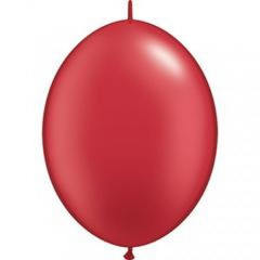 Balon Cony Pearl Ruby Red, 6 inch (15 cm), 10 buc, Qualatex 90476