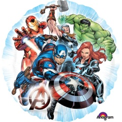 Balon folie 45cm Avengers rotund, Amscan 3465501