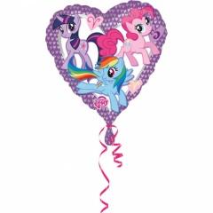Balon folie 45 cm My Little Pony ( Micutul meu ponei) in forma de inima, Amscan 2479701