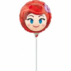 Balon Mini Folie Emoji Ariel, Amscan, 23 cm, 36372