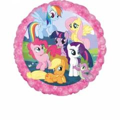 Balon folie 45 cm My Little Pony ( Micutul meu ponei) rotund, 45cm, Amscan 26421