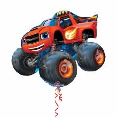 Balon folie figurina desene animate Blaze - 86x71cm, Amscan 32393