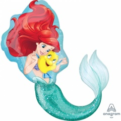 Balon folie figurina Mica Sirena Disney - 71x86 cm, Amscan 33529