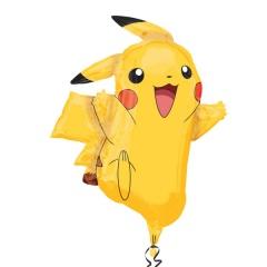 Balon folie figurina Pikachu Pokemon - 62x78cm, Amscan 29460