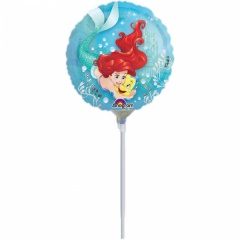 Balon Mini Folie Ariel Dream Big + bat si rozeta, Amscan, 23 cm, 33939