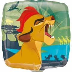 Balon Mini Folie Regele Leu - Lion Guard + bat si rozeta, Amscan, 23 cm, 34648