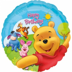 Balon folie 45 cm Pooh and Friends Happy Birthday, Amscan 15749