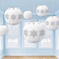 Ornamente Craciun tip lampion, Amscan 242311, set 6 bucati
