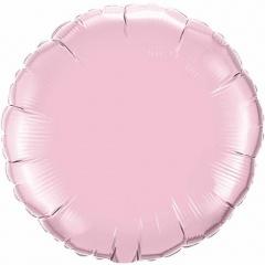 Folie 45 cm rotund pearl pink metalizat, Q 60678