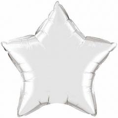 """9"""" Silver Star Shaped Foil Balloon, Qualatex 22466"""