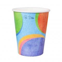 Pahare carton pentru petrecere multicolor - 250 ml, Radar 63380, set 10 bucati