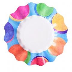 Farfurii carton pentru petrecere multicolor - 21 cm, Radar 63378, set 10 bucati