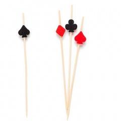 Scobitori decorative Poker pentru briose - 12 cm, Radar 50259, set 25 bucati