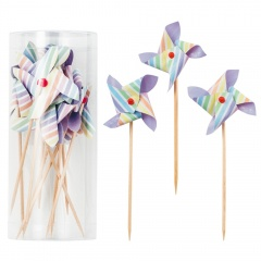 Scobitori decorative pentru briose cu morisca - 10 cm, Radar 41350, Set 10 buc
