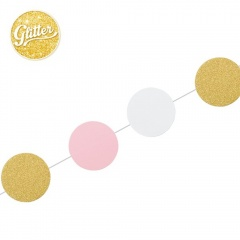 Banner pentru petrecere roz/auriu - 3 m, Radar 41293, 1 bucata
