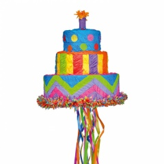 Pinata Tort Happy Birthday, Amscan P19699, 1 buc