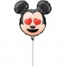 Balon mini figurina Mickey Mouse - 24 cm, umflat + bat si rozeta, Amscan 36362