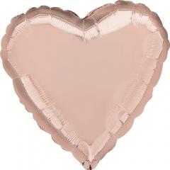 Balon folie 45 cm inima Rose Gold, Amscan 36186
