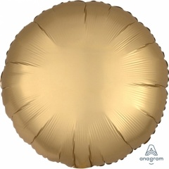 Balon folie 45 cm rotun Satin Luxe Gold, Amscan 36801