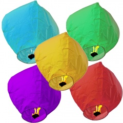 White Paper Chinese Sky Fire Lantern - Wishing Flying Candle Lamp, Radar LUCHY, 1 piece