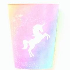 Pahare carton pentru petrecere Unicorn - 250 ml, Radar 63862, set 8 bucati