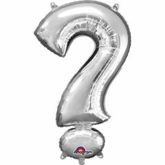 "Balon Folie Figurina Argintiu ""?""- 27 x 40 cm, Amscan 33072"