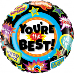 Balon Folie 45 cm Rotund - You're the best, Qualatex 24099