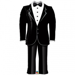 Balon Folie Figurina Tuxedo/ Costum Mire - 99 cm, Qualatex 57372