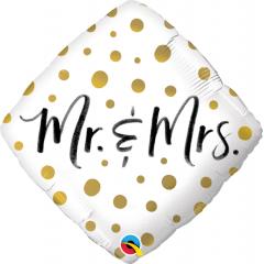 Balon Folie 45 cm Romb - MRS & MS, Qualatex 57334