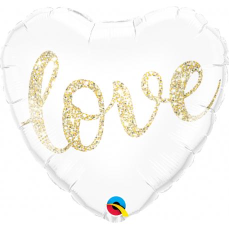 Balon Folie 45 cm Glitter - MRS, Qualatex 57316
