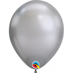"Baloane latex 11""/28 cm Silver - Chrome, Qualatex 58270"