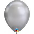 """Baloane latex 11""""/28 cm Silver - Chrome, Qualatex 58270"""