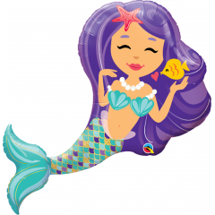Balon Folie Figurina Sirena - 38''/ 96 cm, Qualatex 57815