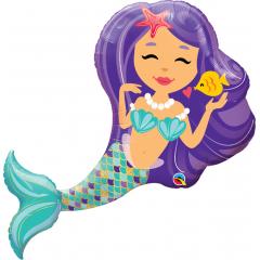 Enchanting Mermaid Shaped Foil Balloon - 38''/ 96 cm, Qualatex 57815