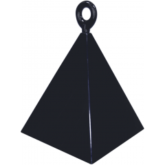 Greutate pentru baloane forma piramida neagra - 110 g, Qualatex 14428