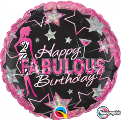Balon Folie 45 cm Fabulous - Happy Birthday, Qualatex 35320