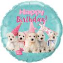 Balon Folie 45 cm Catelusi- Happy Birthday, Qualatex 57620