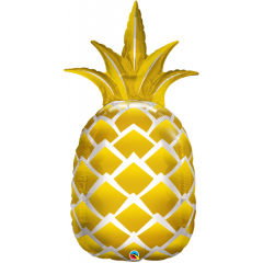 "44"" Golden Pineapple SuperShape Foil Balloon, Qualatex 57362"