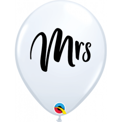 "11"" Printed Latex Balloons, Hen Night L White, Qualatex 92025, Pack of 25 Pieces"